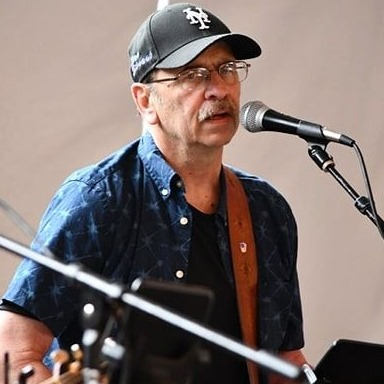 Bob Spadafora singing and playing live acoustic music in the Finger Lakes